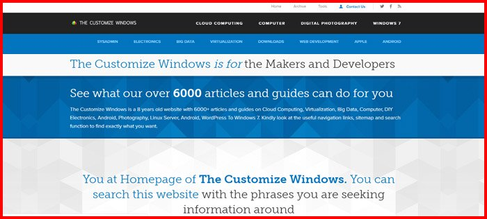 the customize windows