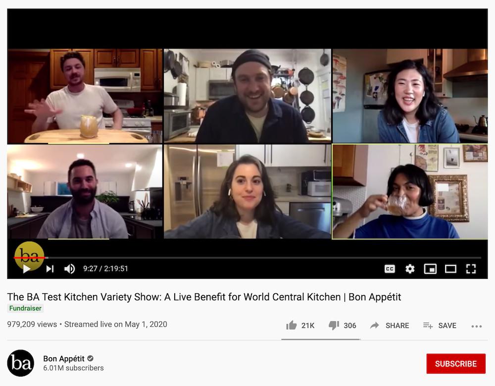 Bon Appétit Live Stream